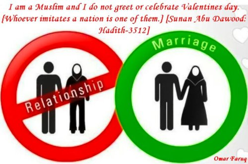 Premarital relationships are haraam